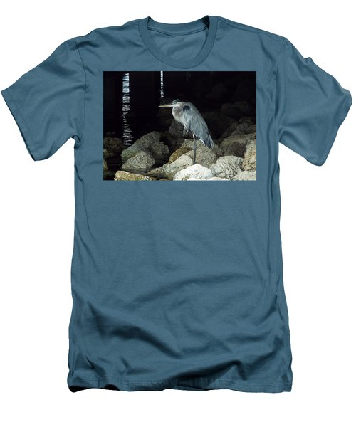 Beautiful And Patience Heron Men's T-Shirt (Athletic Fit)