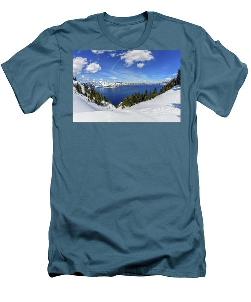 Beautiful Crater Lake Men's T-Shirt (Athletic Fit)