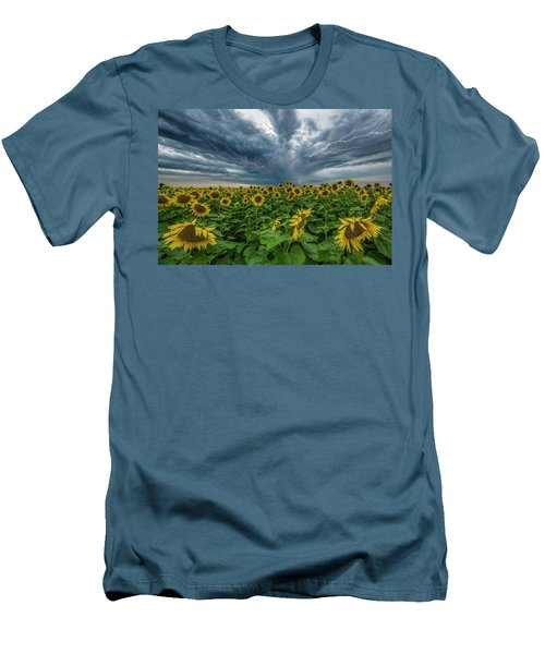 Men's T-Shirt (Slim Fit) featuring the photograph Beautiful Disaster  by Aaron J Groen