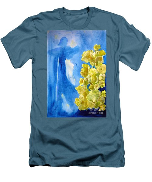 Men's T-Shirt (Slim Fit) featuring the painting Beautiful Dreamer by Sandy McIntire