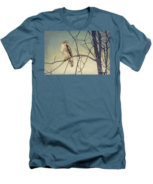 Red-tailed Hawk On Watch Men's T-Shirt (Athletic Fit)
