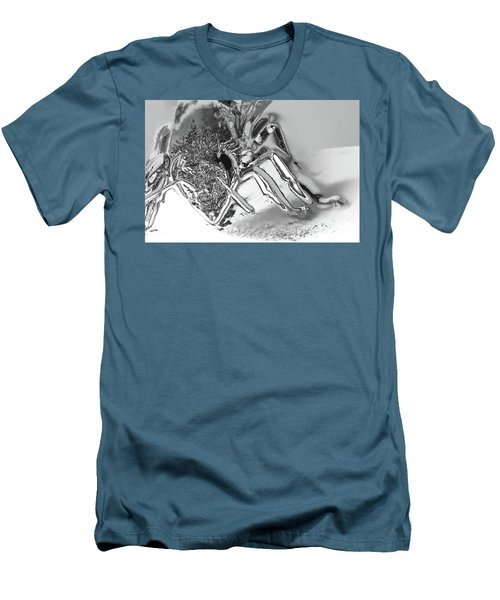 Men's T-Shirt (Slim Fit) featuring the photograph Bee In Macro Chrome by Micah May