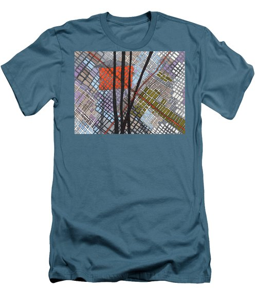 Behind The Fence Men's T-Shirt (Slim Fit) by Sandra Church