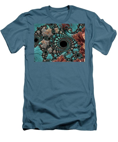 Men's T-Shirt (Slim Fit) featuring the digital art Bejeweled Fractal by Bonnie Bruno