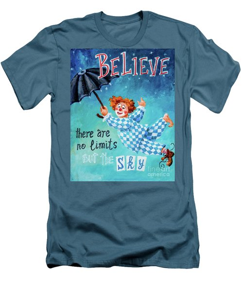 Men's T-Shirt (Slim Fit) featuring the painting Believe by Igor Postash