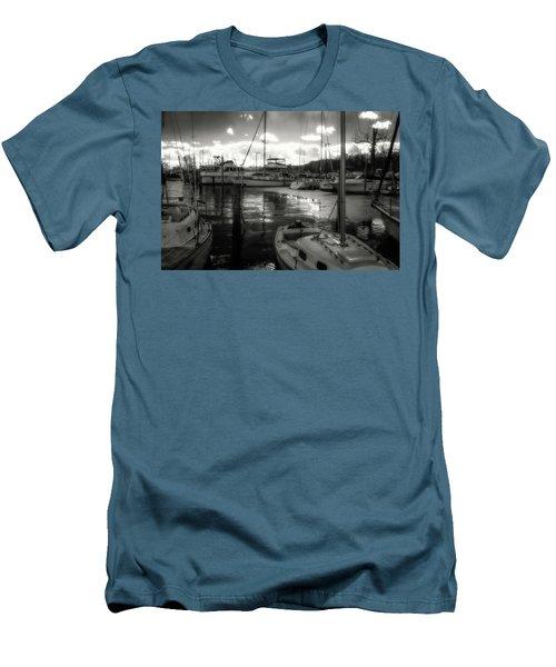 Bell Haven Docks Men's T-Shirt (Slim Fit) by Paul Seymour