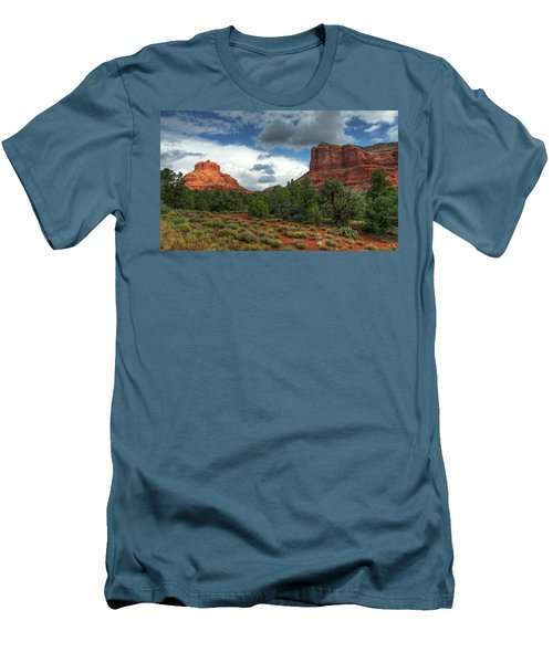 Men's T-Shirt (Athletic Fit) featuring the photograph Bell Rock In Sedona  by Saija Lehtonen