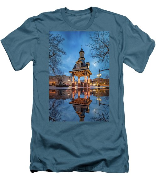 Bell Tower  In Beaver  Men's T-Shirt (Slim Fit) by Emmanuel Panagiotakis