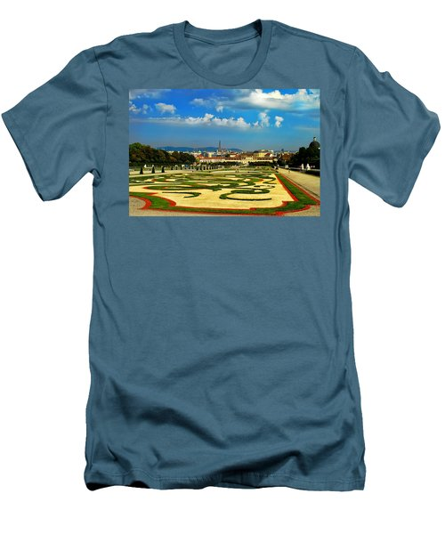Men's T-Shirt (Slim Fit) featuring the photograph Belvedere Palace Gardens by Mariola Bitner