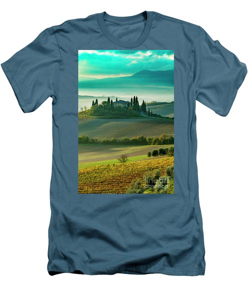 Men's T-Shirt (Slim Fit) featuring the photograph Belvedere - Tuscany II by Brian Jannsen