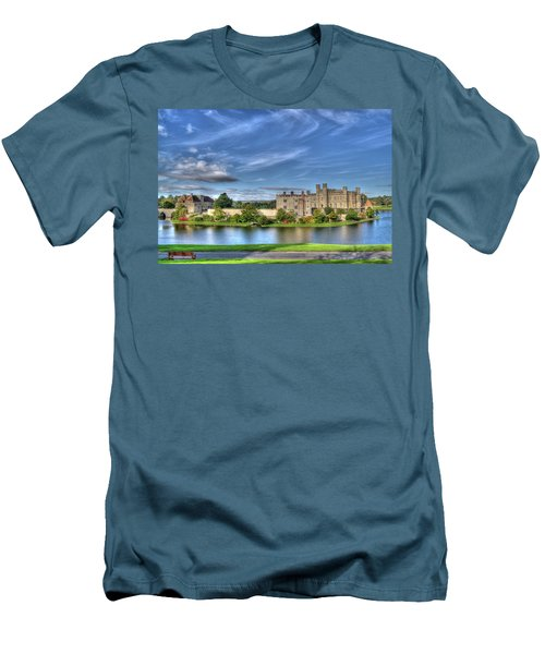 Bench View Of Leeds Castle Men's T-Shirt (Athletic Fit)