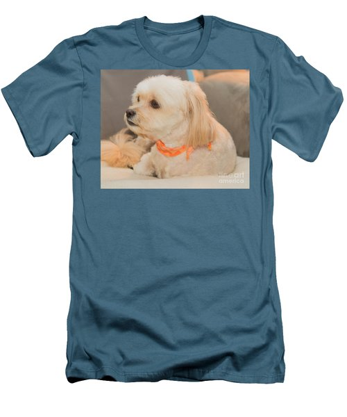 Benji On The Look Out Men's T-Shirt (Athletic Fit)