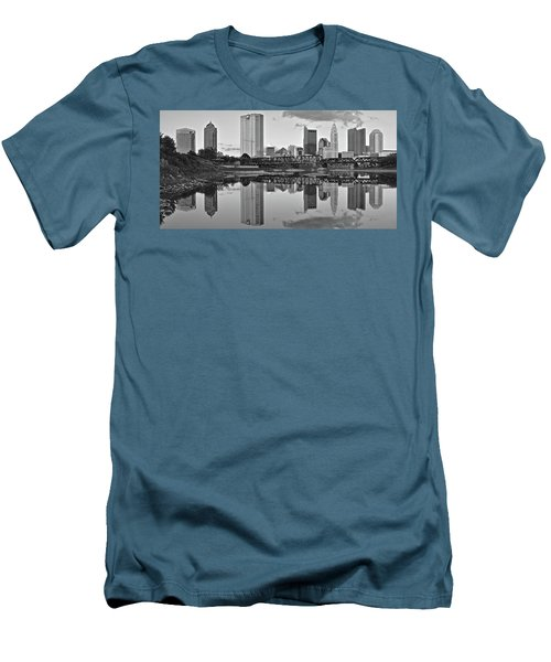 Men's T-Shirt (Slim Fit) featuring the photograph Best Columbus Black And White by Frozen in Time Fine Art Photography