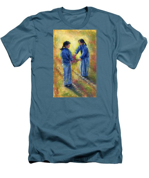 Best Friends Men's T-Shirt (Slim Fit) by Retta Stephenson