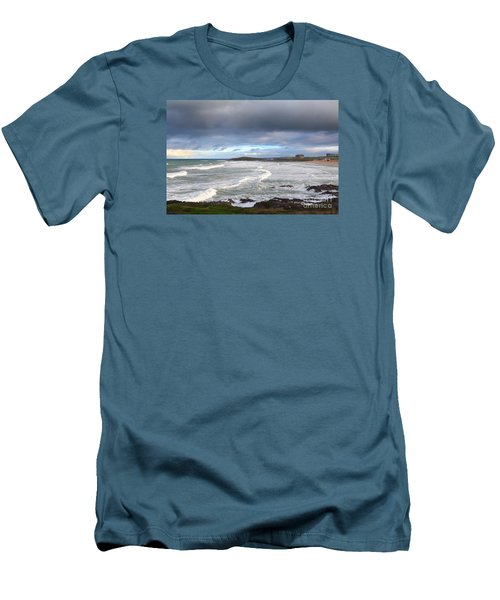 Men's T-Shirt (Slim Fit) featuring the photograph Between Cornish Storms 1 by Nicholas Burningham