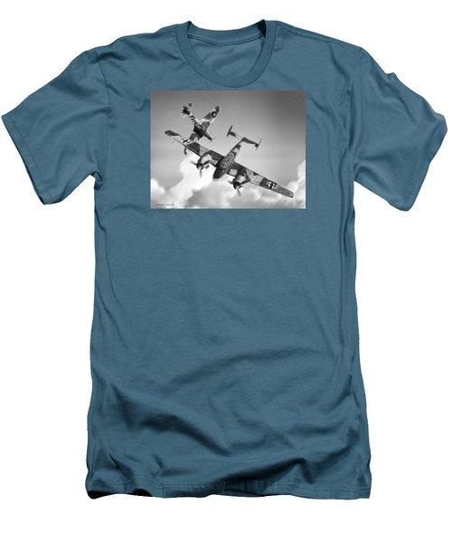 Bf-110c Zerstorer Men's T-Shirt (Slim Fit) by Douglas Castleman