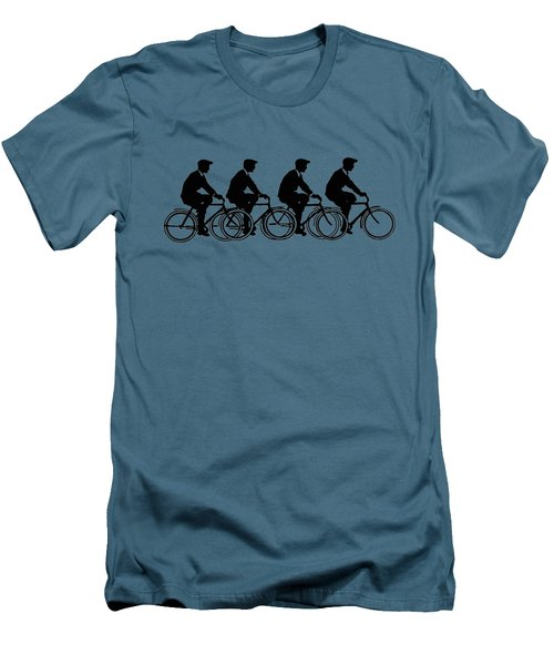 Bicycling T Shirt Design Men's T-Shirt (Slim Fit) by Bellesouth Studio