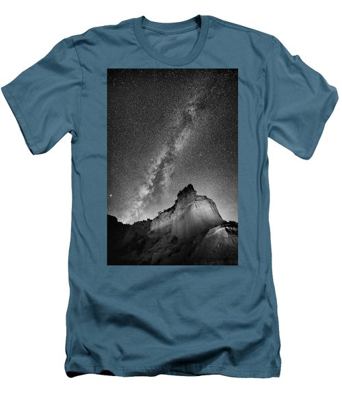 Men's T-Shirt (Slim Fit) featuring the photograph Big And Bright In Black And White by Stephen Stookey