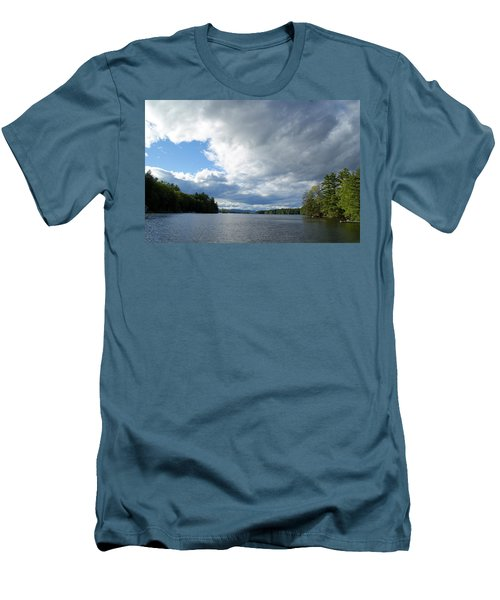 Men's T-Shirt (Slim Fit) featuring the photograph Big Brooding Sky by Lynda Lehmann