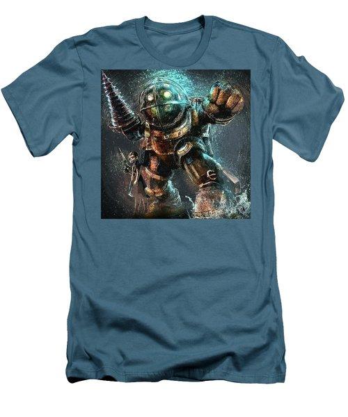 Men's T-Shirt (Slim Fit) featuring the digital art Bioshock by Taylan Apukovska