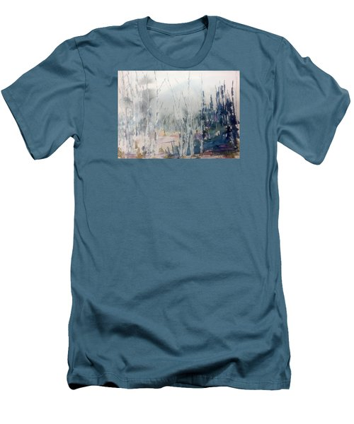Birches In Haze  Naim's Enchatned Forest Men's T-Shirt (Athletic Fit)
