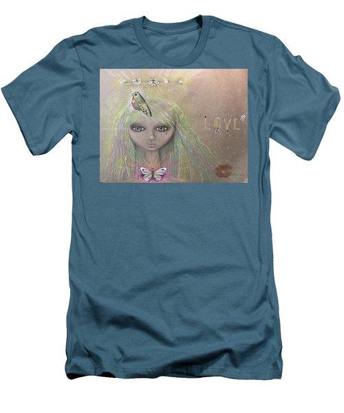 Bird From Spirit World  Men's T-Shirt (Athletic Fit)