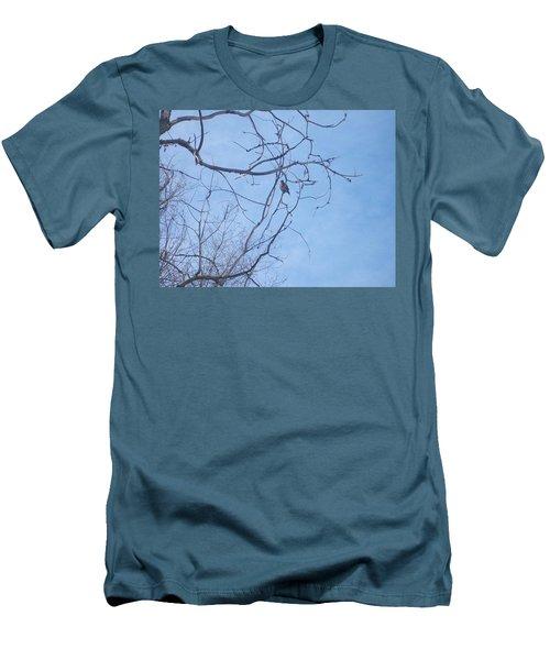Bird On A Limb Men's T-Shirt (Slim Fit) by Jewel Hengen