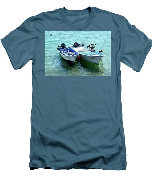 Birds Sunbathing  Men's T-Shirt (Slim Fit) by Haleh Mahbod