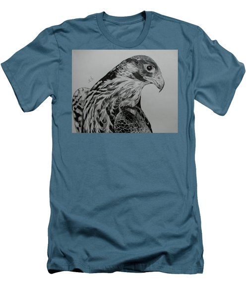 Men's T-Shirt (Slim Fit) featuring the drawing Birdy by Melita Safran