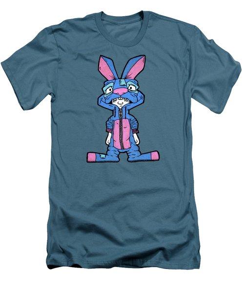 Bizarre Bunny Mascot Men's T-Shirt (Slim Fit)