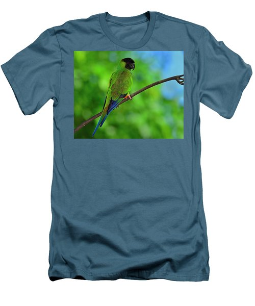 Men's T-Shirt (Slim Fit) featuring the photograph Black And Blue by Tony Beck