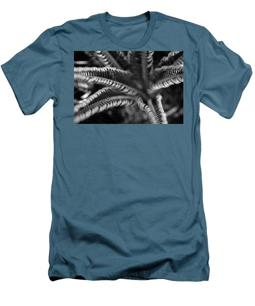Black And White Palm Abstract 3624 Bw_2 Men's T-Shirt (Athletic Fit)
