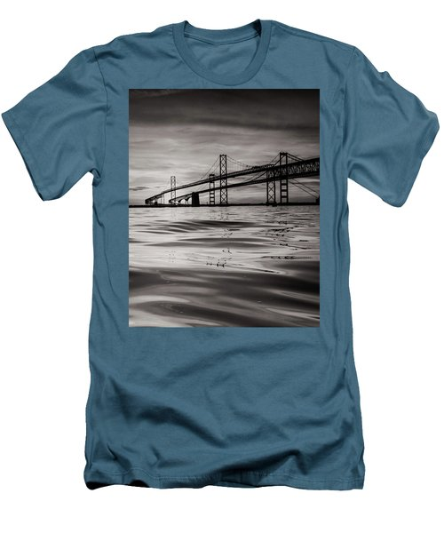 Black And White Reflections 2 Men's T-Shirt (Slim Fit) by Jennifer Casey