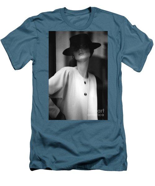 Black And White Men's T-Shirt (Slim Fit) by Steven Macanka