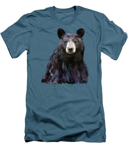 Black Bear Men's T-Shirt (Slim Fit) by Amy Hamilton
