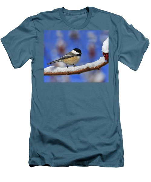 Black-capped Chickadee In Sumac Men's T-Shirt (Athletic Fit)