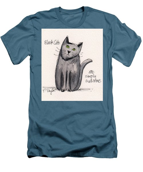 Black Cats Are Simply Awesome Men's T-Shirt (Athletic Fit)