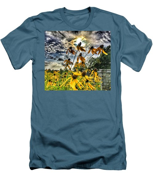 Men's T-Shirt (Slim Fit) featuring the photograph Black Eyed Susan by Sumoflam Photography