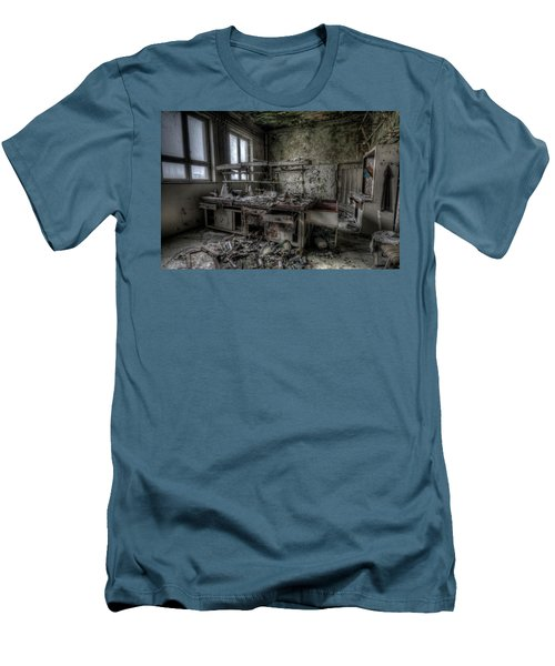 Men's T-Shirt (Slim Fit) featuring the digital art Black Lab by Nathan Wright