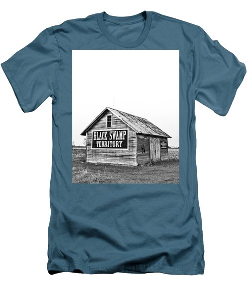 Black Swamp Territory Men's T-Shirt (Slim Fit) by Andrew Weills