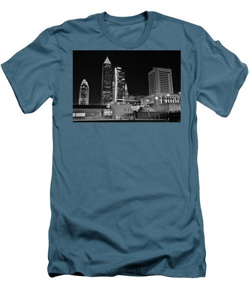 Men's T-Shirt (Slim Fit) featuring the photograph Blackest Night In Cle by Frozen in Time Fine Art Photography