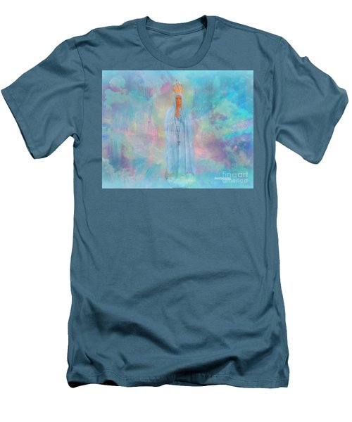 Blessed Mother Of Jesus Men's T-Shirt (Slim Fit) by Sherri's Of Palm Springs