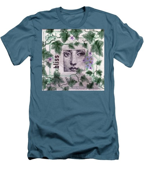 Men's T-Shirt (Slim Fit) featuring the mixed media Bliss On Tile by Desiree Paquette