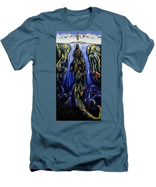 Blood Gulch Men's T-Shirt (Slim Fit) by Ryan Demaree