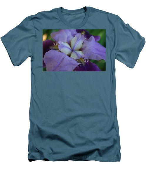 Men's T-Shirt (Slim Fit) featuring the digital art Blooming Iris by Barbara S Nickerson