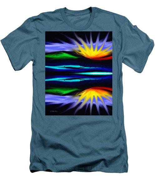 Blooming Lotus Men's T-Shirt (Slim Fit) by Jennifer Galbraith