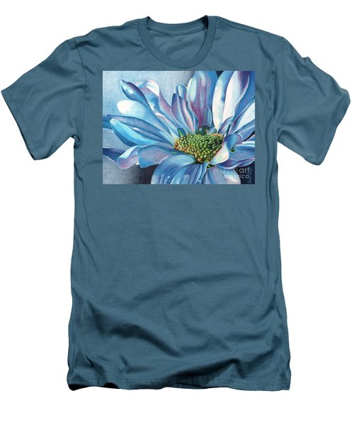 Blue Men's T-Shirt (Slim Fit) by Angela Armano