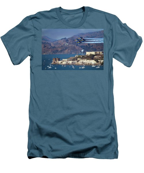 Blue Angels Over Alcatraz Men's T-Shirt (Athletic Fit)
