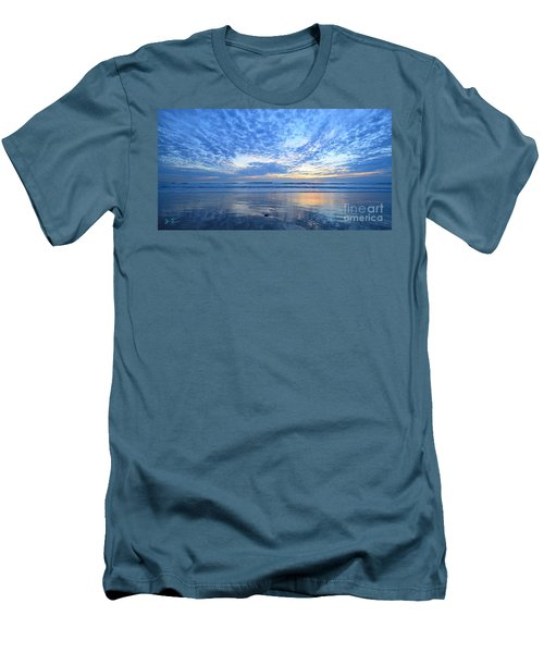 Men's T-Shirt (Athletic Fit) featuring the photograph Beach Home Blues by John F Tsumas