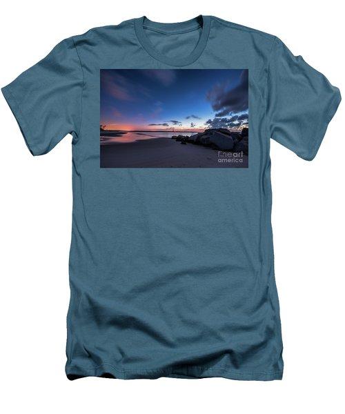 Blue Betsy Sunrise Men's T-Shirt (Slim Fit) by Robert Loe